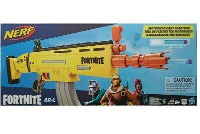 NEW Nerf Fortnite AR-L Elite Dart Blaster GOLD SCAR Gun - FAST FREE SHIPPING
