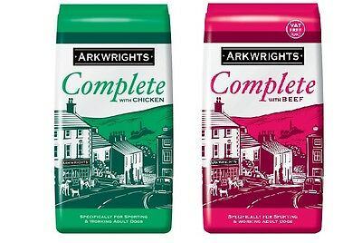 Arkwrights Complete Dry Dog Food Beef & Chicken 15KG X2 (30KG) (VAT Free)