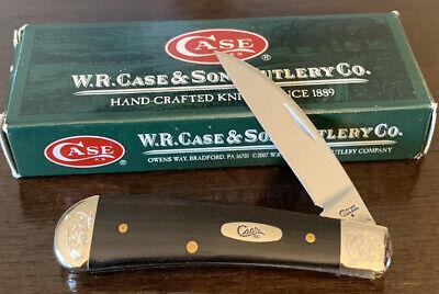 2009 CASE XX TB71117 EBONY TONY BOSE SWAY BACK JACK POCKET KNIFE SCROLLED