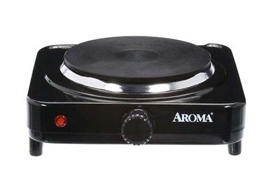 AROMA Single Burner Diecast Hot Plate Electric Portable Stove Cooktop Single New