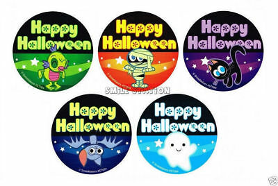 10 Glow in the Dark Happy Halloween Stickers Kid Birthday Party Goody Bag Favor (Happy Halloween Goodie Bags)