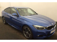 Blue BMW 330 3.0TD 4X4 Auto 2016 xDrive M Sport GT FROM £103 PER WEEK!