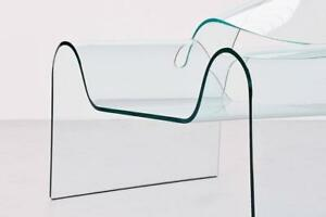 Sculptural Ghost Glass Armchair Designed By: Cini Boeri