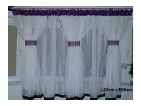 Voile Net Curtain - with violet colour NEW