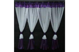 Voile Net Curtain- with violet colour