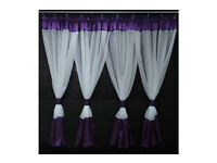 Voile Net Curtain- with violet colour