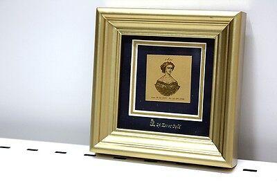 GolDeko Goldgemälde 24K Gold Bild Gemälde Sissi Rahmen Bild 11x11x2,2 cm
