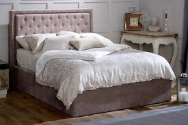 Mink velvet double 4ft 6 brand new bed