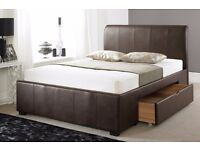 4ft Small Double Swift Drawer Bed in Brown - Reduced to Clear Was £239.99 Now £150.00