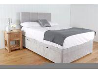 OTTOMAN BED + STANDARD Headboard From £249.99