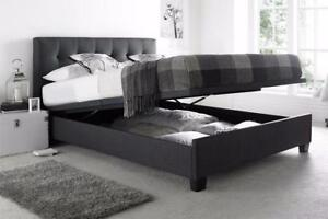 $$$BLACK FRIDAY SALE- Brand New MODERN LIFE UP Storage LEATHER bed - NO TAX