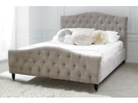5ft King Size Upholstered bedframe (Mink)