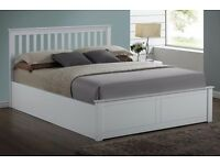 5ft Pentre Ottoman Bed - Kingsize - White - Was £399 Now £150