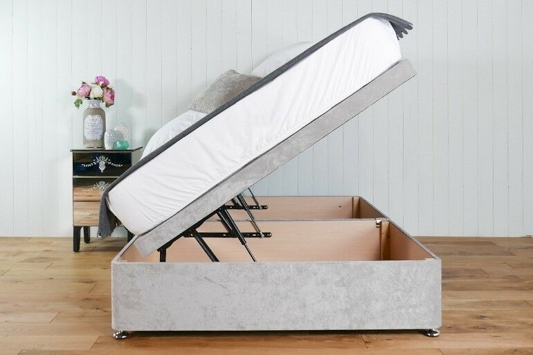 Fine 4Ft6 Double Side Lift Ottoman Bed Silver Velvet Seconds In Hull East Yorkshire Gumtree Machost Co Dining Chair Design Ideas Machostcouk