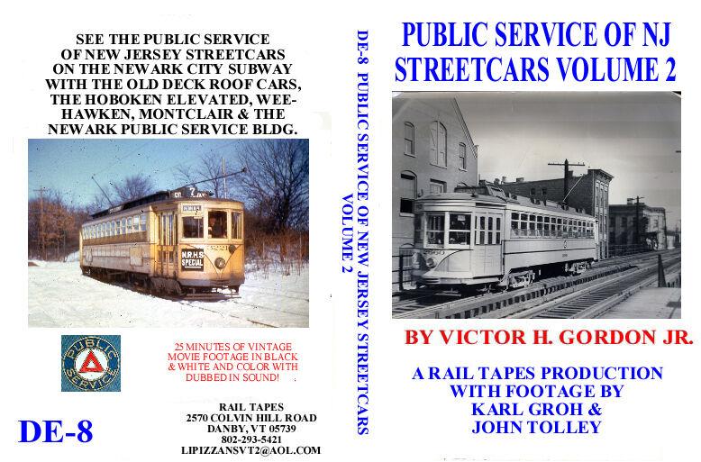 DVD: Public Service of New Jersey Streetcars Volume 2 Trolley NJ PSNJ