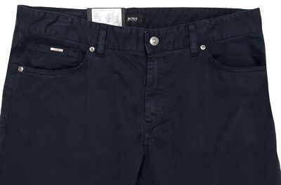 Men's HUGO BOSS Navy Jean-Style Cotton + Pants MAINE 34x32 NWT Blue Regular Fit