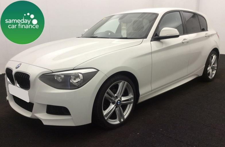 £245.52 PER MONTH WHITE 2013 BMW 116D M SPORT 5 DOOR DIESEL MANUAL