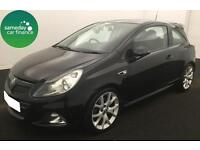 £116.87 PER MONTH BLACK 2010 VAUXHALL CORSA 1.6 TURBO VXR 3 DOOR PETROL MANUAL
