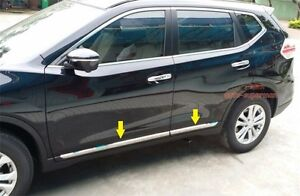 Stainless Steel Side Door Molding Trim Chrome For Nissan