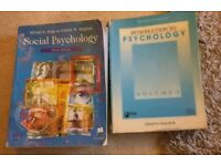 Psychology Text Books (Social Psychology and Introduction to Psychology) Hogg Vaughan Roth
