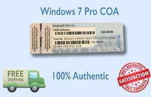 Windows 7 Pro COA | eBay
