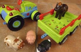 BAO TRACTOR AND TRAILER WITH ANIMALS fantastic educational toy