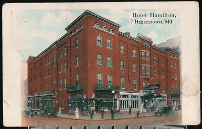 HAGERSTOWN MD Hotel Hamilton Vintage 1920's Cars Early