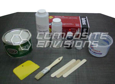 Carbon Fiber Part Wrapping Kit W Clear Epoxy Plain Weave - Medium Kit