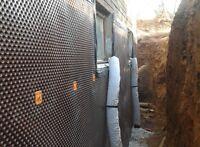 Basement waterproofing and drainage
