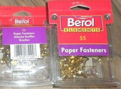 Berol Elements 165 Brass Paper Fasteners 1993 Vintage W.t. Rogers 3 55 Packs