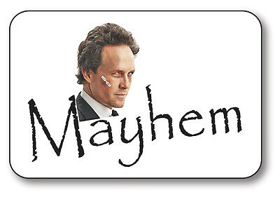 MAYHEM FROM ALLSTATE COMMERCIAL NAME BADGE HALLOWEEN COSTUME PROP PIN BACK](Halloween Mayhem Costume)
