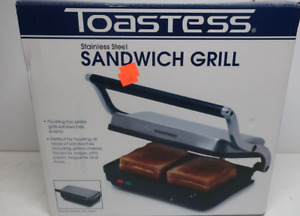 BRAND NEW Toastess Stainless Steel Sandwich Grill