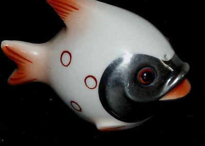 Fisch mit Silberauflage Salz-Streuer aus den 60igern Goebel 1.Wahl FM3 Selten