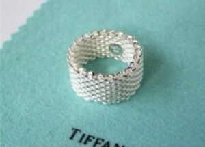 Authentique Tiffany & Co Bague , ring  Mesh Somerset