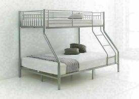 🎆💖🎆Best Price Offered🎆💖🎆TRIO METAL BUNK BED FRAME DOUBLE BOTTOM & SINGLE TOP HIGH QUALITY