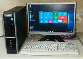 COMPUTER CORE 2, 2GB RAM 80GB WINDOWS 7 ALL COMPLETE WITH MONITOR KEYBOARD MOUSE ALL LEADS INCLUDED