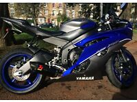2014 Yamaha R6 in Black/Blue, 1900 Miles, 1 Owner from New, Under warranty until June 2017