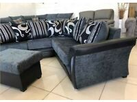 Clearance Sale on Chenille Fabric Shannon Corner Sofa and 3+2 seater Sofa Set Order Now