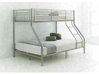 🎆💖🎆FREE DELIVERY!🎆💖🎆TRIO METAL BUNK BED FRAME DOUBLE BOTTOM & SINGLE TOP HIGH QUALITY