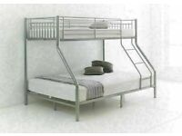 ☀️💚☀️VARIOUS COLOR☀️💚☀️TRIO METAL BUNK BED FRAME DOUBLE BOTTOM & SINGLE TOP HIGH QUALITY