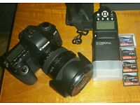 Canon 5d mark ii with Canon 24-105mm f4 L series lens and plenty of extras