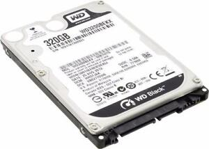 "Western Digital Black 320GB / 750GB 2.5"" SATA Laptop Hard Drive"