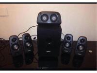 Logitech 6 speaker wired surround sound system