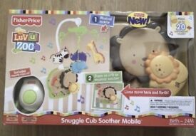 Luv u Zoo Snuggle Soother Baby Mobile
