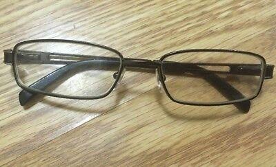 LEVI'S Eyeglasses Full Metal Frame 52▫17 130 Spring Hinges RX Lenses EUC!!