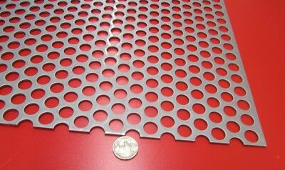 Perforated Staggered Steel Sheet .075 Thick X 36 X 40 .500 Hole Dia.