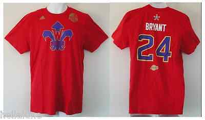 nwt~Adidas KOBE BRYANT LA Lakers NBA ALL STAR Jersey-T SHIRT Basketball~Men sz M