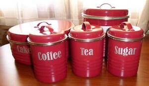 "5 piece ""Vintage Kitchen"" cannisters East Victoria Park Victoria Park Area Preview"