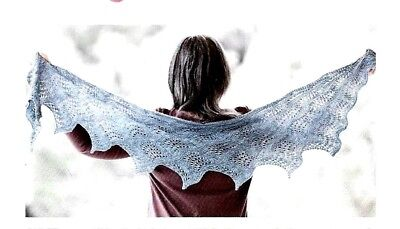 GORGEOUS LACE DIANA SHAWL to KNIT in FINGERING WEIGHT YARN by  ROMI HILL