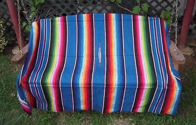 Sarape Serape Mexican Blanket, Saltillo Southwestern Afghan Throw